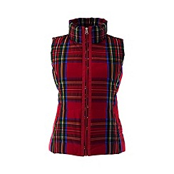 Lands' End - Red tall hyperdry patterned down gilet
