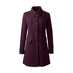 Lands' End - Red wool blend car coat