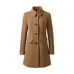 Lands' End - Brown wool blend car coat