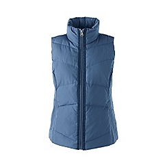 Lands' End - Blue petite hyper dry down gilet