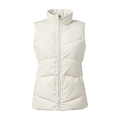 Lands' End - Cream tall hyperdry down gilet
