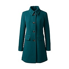 Lands' End - Green plus wool blend car coat