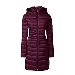 Lands' End - Red lightweight packable hyperdry down coat
