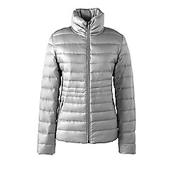 Lands' End - Grey petite lightweight hyper dry down jacket
