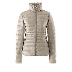 Lands' End - Cream tall lightweight packable hyper dry down jacket