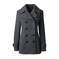 Lands' End - Grey wool blend peacoat