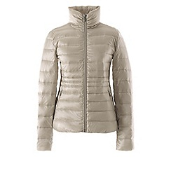 Lands' End - Cream lightweight hyperdry down jacket