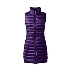 Lands' End - Purple lightweight hyperdry down long gilet