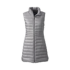 Lands' End - Grey lightweight hyper dry down long gilet
