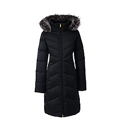 Lands' End - Black hyperdry down shimmer coat