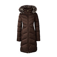 Lands' End - Brown hyperdry down shimmer coat