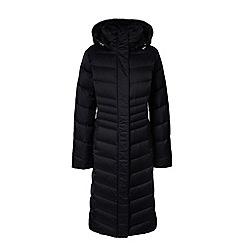 Lands' End - Black hyperdry down shimmer long coat