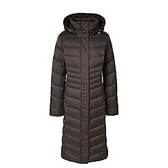 Lands' End - Grey hyperdry down shimmer long coat
