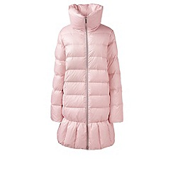 Lands' End - Pink trapeze hyperdry down coat