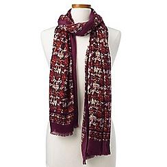 Lands' End - Green tweed scarf