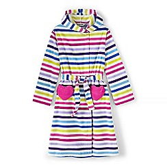 Lands' End - Multi girls' striped fleece dressing gown