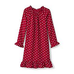 Lands' End - Red girls' flannel nightie