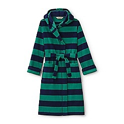 Lands' End - Green boys' patterned fleece dressing gown