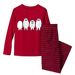 Lands' End - Red boys' fleece pyjama set