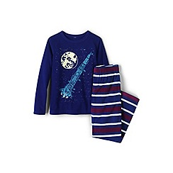 Lands' End - Blue boys' fleece pyjama set