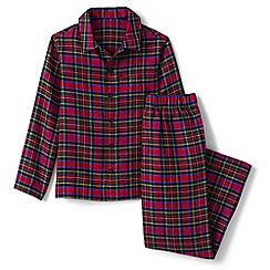 Lands' End - Red boys' flannel pyjama set