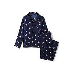 Lands' End - Boys' blue flannel pyjama set