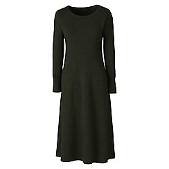 Lands' End - Green merino wool knitted dress