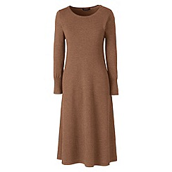 Lands' End - Brown merino wool knitted dress