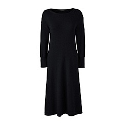 Lands' End - Black merino wool knitted dress