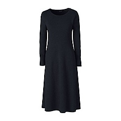 Lands' End - Grey merino wool knitted dress