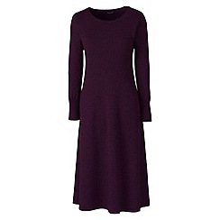 Lands' End - Purple merino wool knitted dress