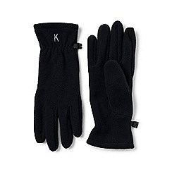 Lands' End - Black ez touch thermacheck-100 fleece gloves