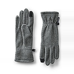 Lands' End - Grey ez touch thermacheck-100 fleece gloves