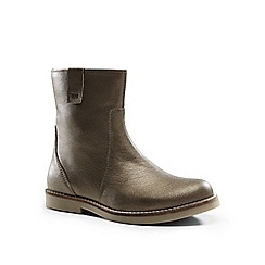 Lands' End - Brown metallic leather boots