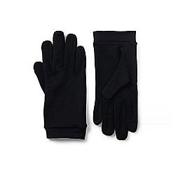 Lands' End - Black wool glove liners