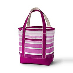 Lands' End - Pink medium print open top tote bag