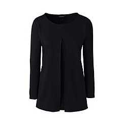 Lands' End - Black ponte pleat front top