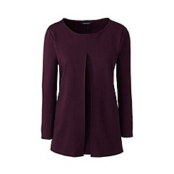 Lands' End - Red ponte pleat front top