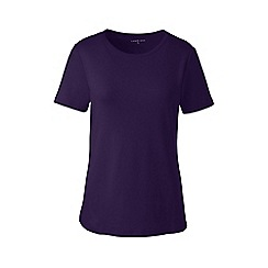 Lands' End - Purple regular cotton rib crew neck t-shirt