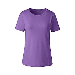 Lands' End - Purple cotton rib crew neck t-shirt
