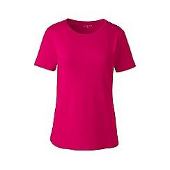 Lands' End - Pink regular cotton rib crew neck t-shirt
