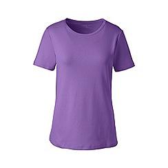 Lands' End - Purple petite cotton rib crew neck t-shirt