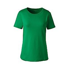 Lands' End - Green petite cotton rib crew neck t-shirt