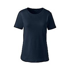 Lands' End - Blue plus cotton rib crew neck t-shirt