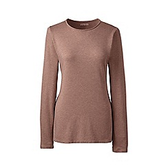 Lands' End - Brown regular long sleeves crew neck t-shirt