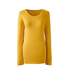 Lands' End - Yellow long sleeve cotton/modal crew neck tee