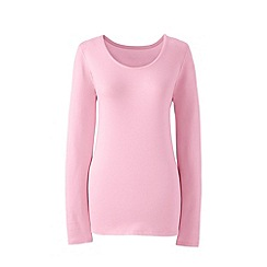 Lands' End - Pink long sleeve cotton/modal scoop neck tee