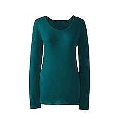 Lands' End - Green regular long sleeves scoop neck t-shirt