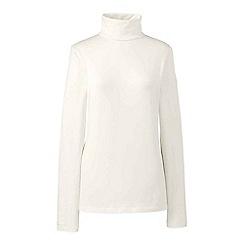 Lands' End - Cream regular roll neck top