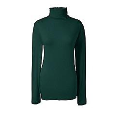 Lands' End - Green cotton/modal roll neck
